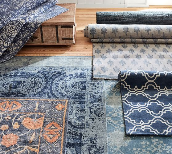 Shilah Synthetic Rug - Blue