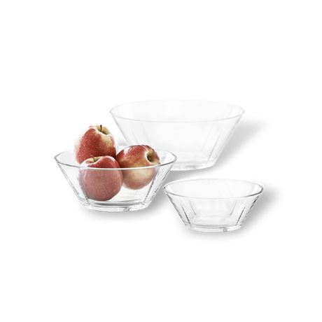 Komplet 3 misek szklanych - GRAND CRU - DECO Salon. The cups are perfect for serving soups, snacks, salads and fruit. #rosendahl #kitchenaccessories #giftidea #scandinaviandesign