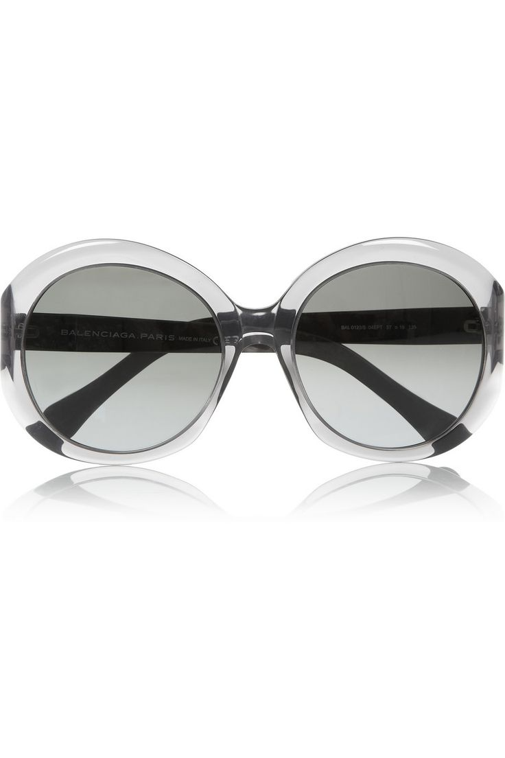 Round-frame acetate sunglasses by Balenciaga