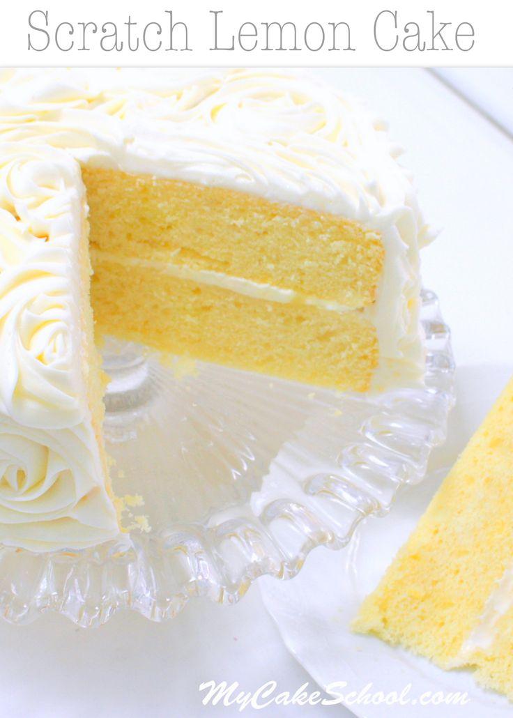 Este arañazos Pastel de limón Receta de MyCakeSchool.com es extremadamente húmedas y sabrosa!