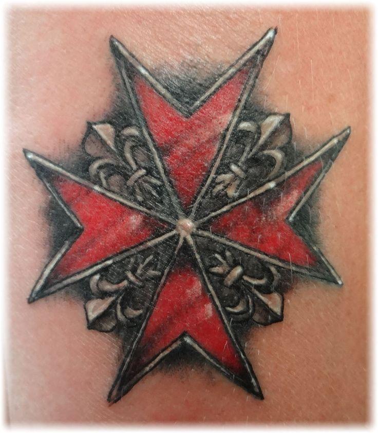Maltese Cross Tattoo Design