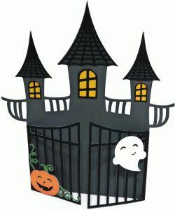 card halloween haunted house by Nilmara Quintela