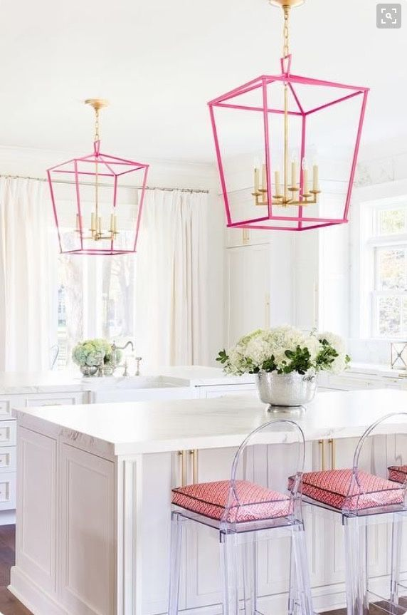 The pop of color with the Ghost Chairs