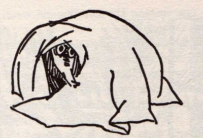 "Illustration by Tove Jansson from her short story, ""The Fillyjonk Who Believed in Disasters"" (1963) via thisbeautifulhunger (blogspot)"