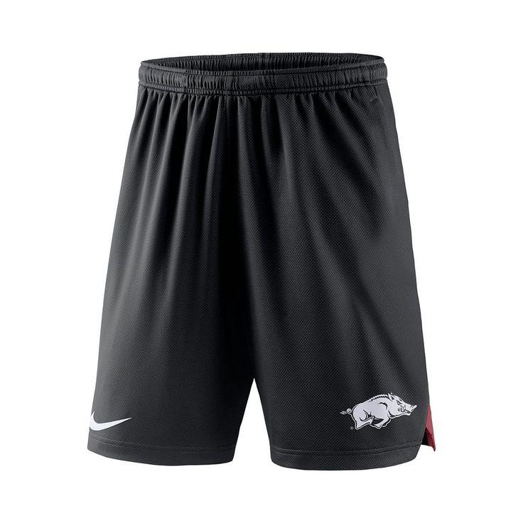Men's Nike Arkansas Razorbacks Football Dri-FIT Shorts, Size: Medium, Black