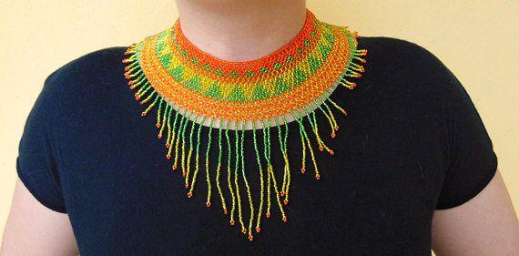 Collier ras du cou collier Huichol collier collier