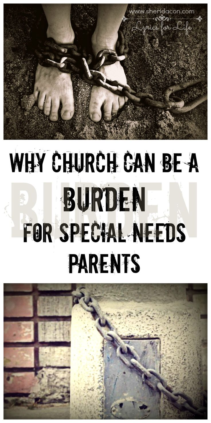 It's hard, going to church with a special needs child. You want to go for all the right reasons, but often it feels like a burden weighing you down.