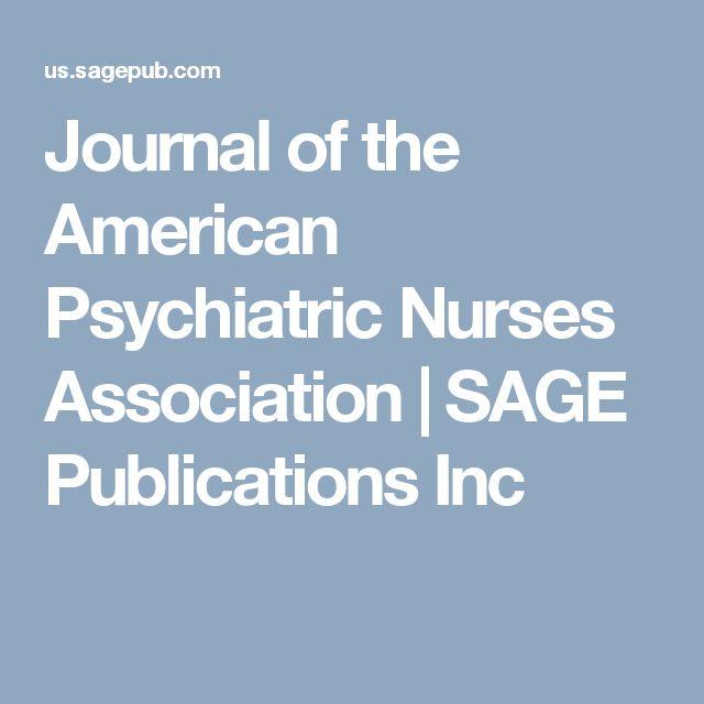Journal of the American Psychiatric Nurses Association   SAGE Publications Inc