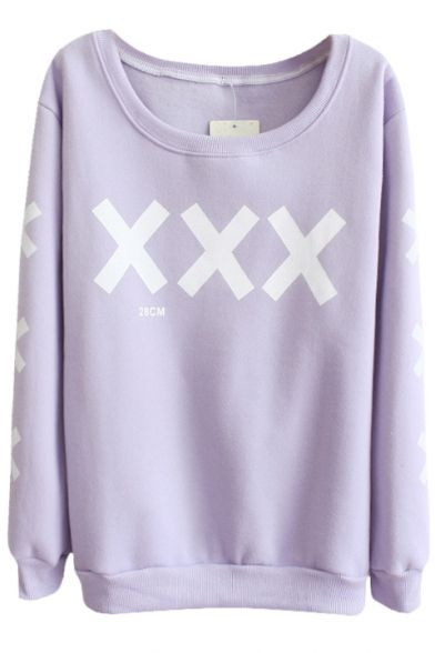 Cross Pattern Round Neck Long Sleeve Sweater, Quality Unique Hoodies & Sweatshirts - Beautifulhalo.com