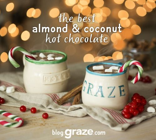 Almond and coconut hot chocolate
