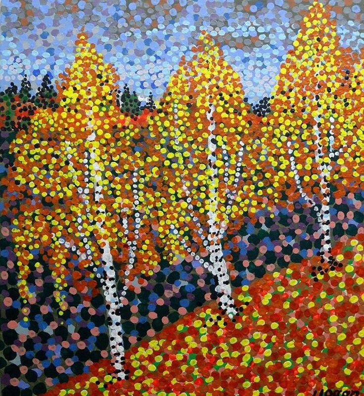 Autumn Birches. #hoganfinland #taiko #art #konst #taide #syksy #ruska #höst…