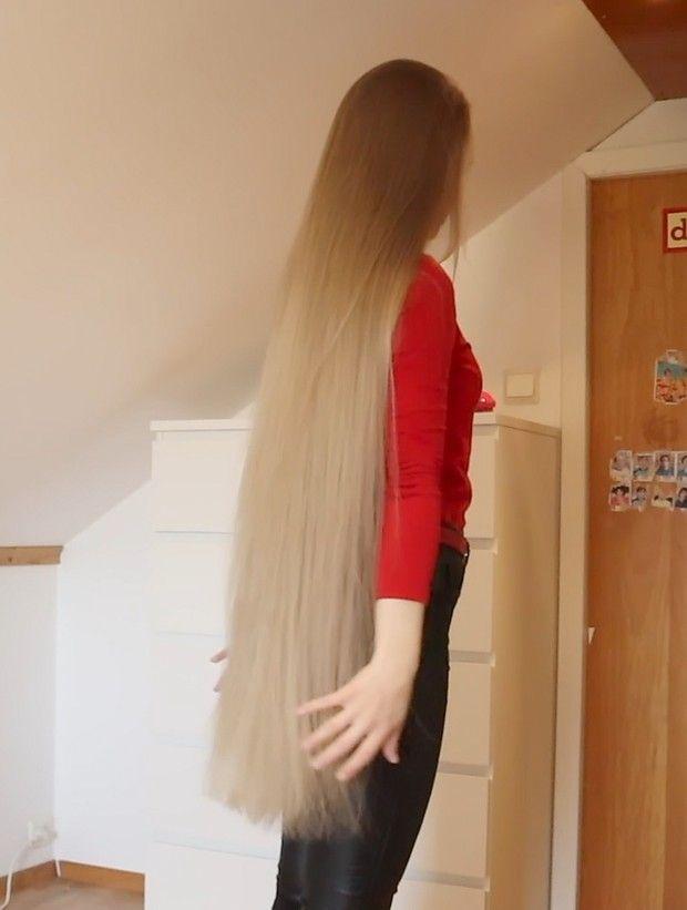 Video Very Long Blonde Hair Long Hair Styles Long Thin Hair Hair Styles