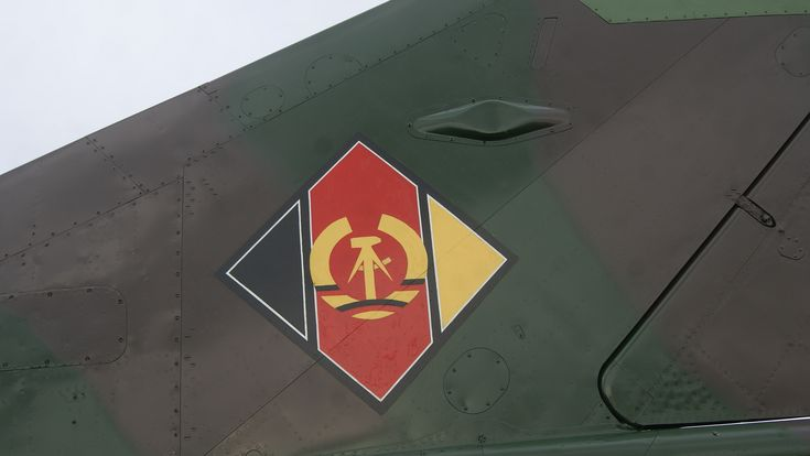 Cold war Warrior tail 2  East German flag on a Mig21 at Coventry
