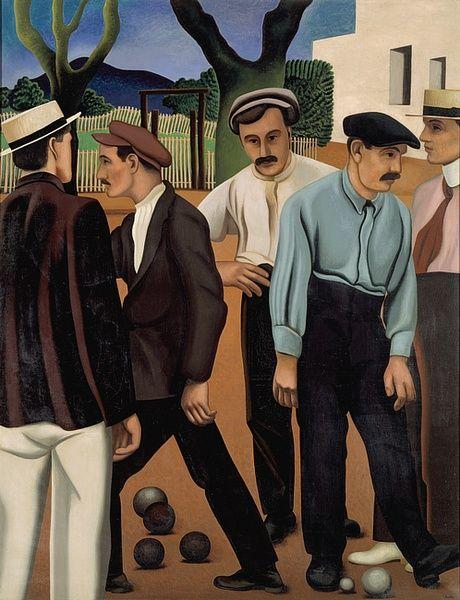"""huariqueje: """" Les Joueurs de Boules II - Auguste Herbin 1923 French 1882-1960 Oil on canvas Centre Pompidou, Paris.France """""""