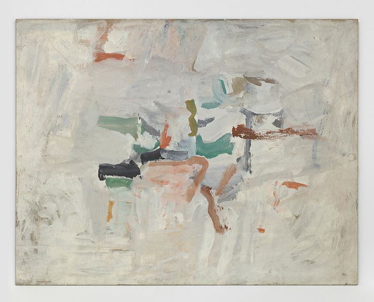 The exhibition includes scores by John Cage and Morton Feldman, paintings by Philip Guston, sculpture and works on paper by Louise Bourgeois and David Smith, and oil paintings by Joan Mitchell.