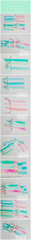 Япония и Южная Корея мяты зеленые волосы веревка веревка завязывают украшения волос смешанные цвета простой резинка для волос группа многоцветной в - глобальной станции Taobao