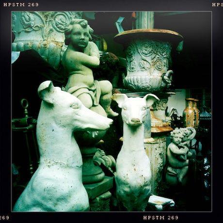 Paris Flea Markets: Marché aux Puces St. Ouen de Clignancourt   flea statues