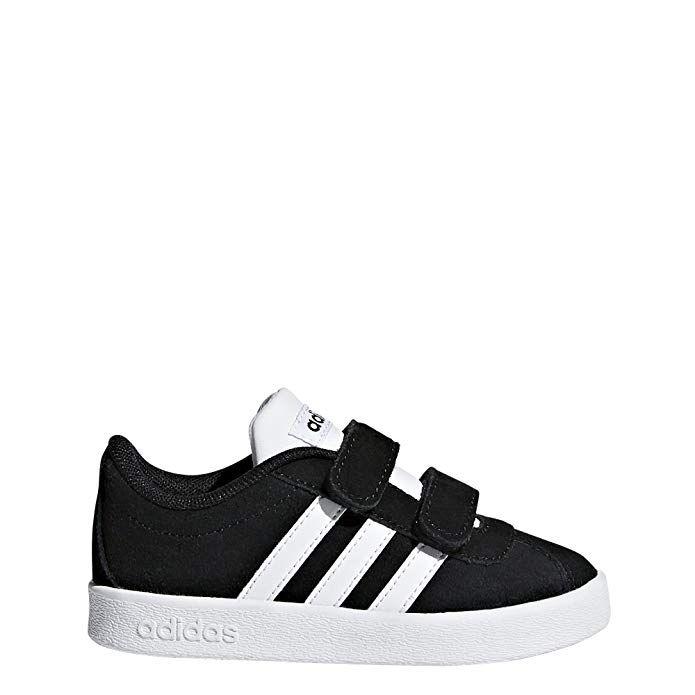 dc94ac4a adidas Kids' VL Court 2.0, Core Black/White/White, 5.5 M US Toddler ...