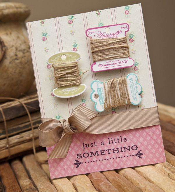 Wrapped Twine Card by Ashley Cannon Newell for Papertrey Ink (November 2012)