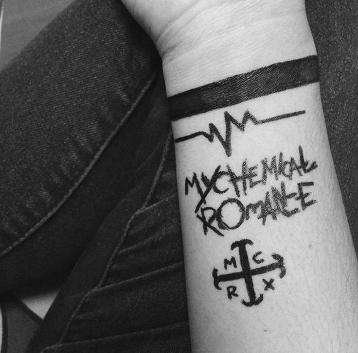 MCR tattoos, for the different eras. Having a tattoo for each one would be awesome.