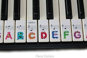 Keyboard or Piano Stickers 61 key set For Kids learn to play THE FUN WAY PSMW61: Amazon.co.uk: Musical Instruments