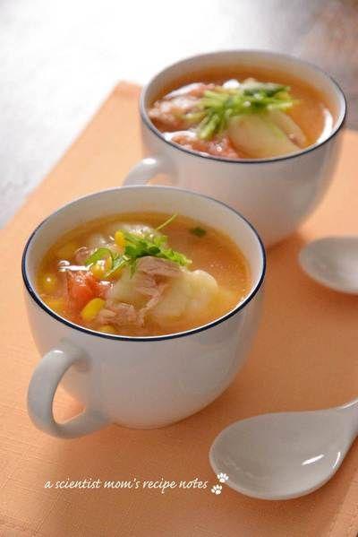 ツナコーントマトのすいとんスープ by nickyさん | レシピブログ ...