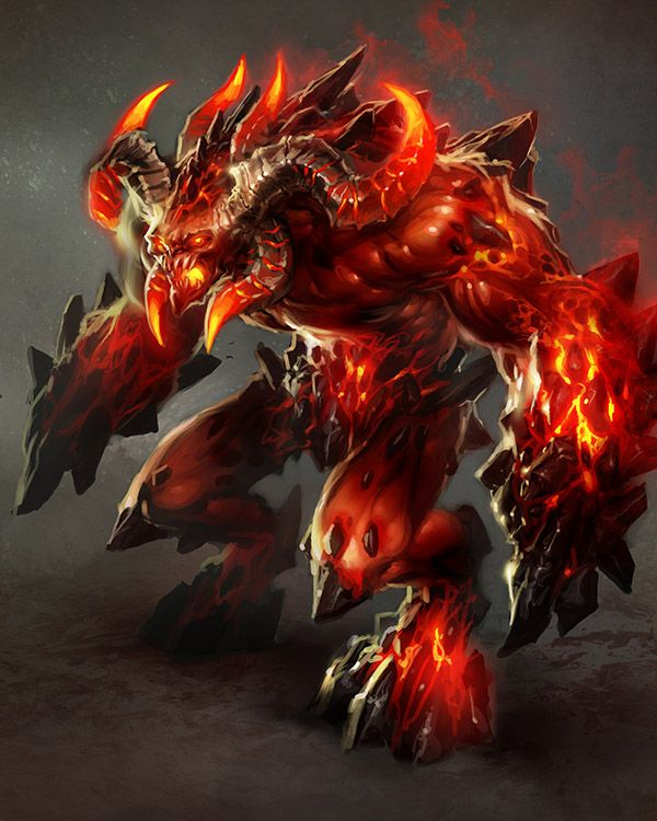 Inferno-Juggernaut by perzo - Game Design - Creative & Inspiring Character & Monster Concept Art #3   <3
