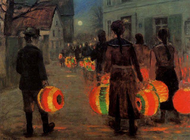 Anne Sophie Petersen (1845-1910): Lantern Parade http://www.artnet.com/artists/anne+sophie-petersen/laternenumzug-L4--djhi3kfAeLPuQfJHtQ2