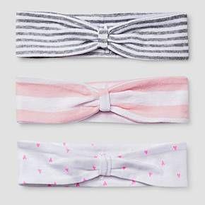 Baby Girls' 3 Pack Headband Set Baby Cat & Jack™ - Pink/White : Target