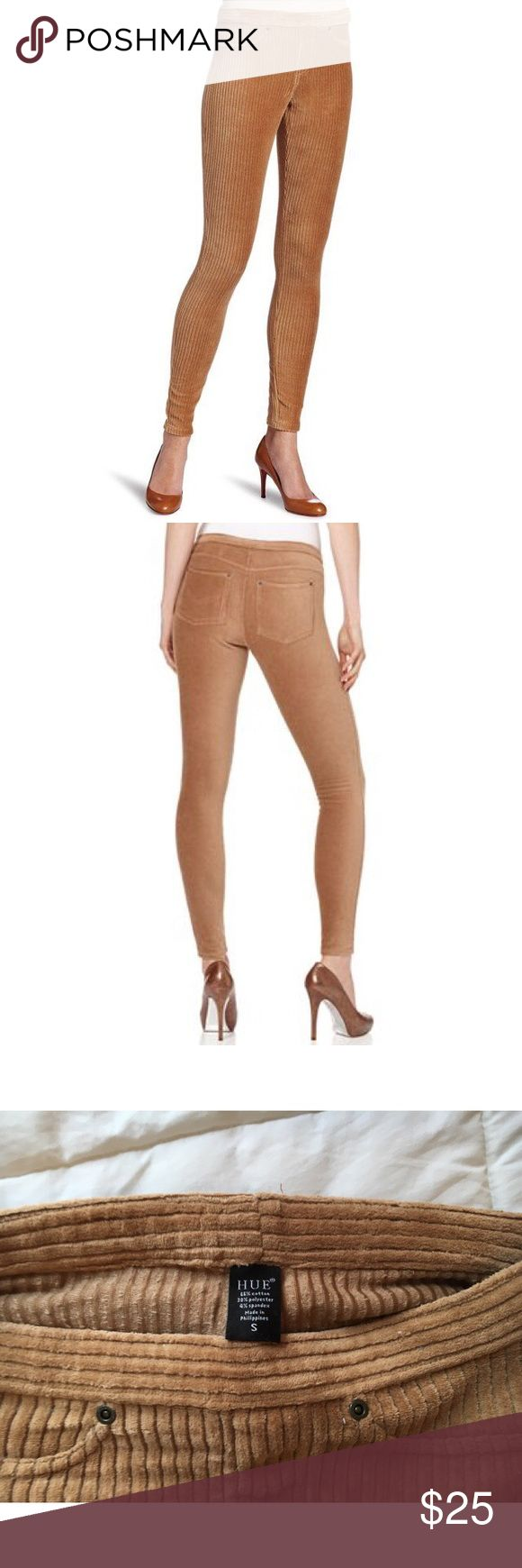 HUE Caramel Corduroy Leggings // Super cute corduroy stretchy leggings with pockets! Nordstrom Pants Leggings
