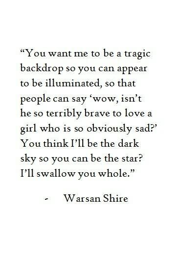 | Poetic | this is a little dark, and slightly haunting; and I love it..