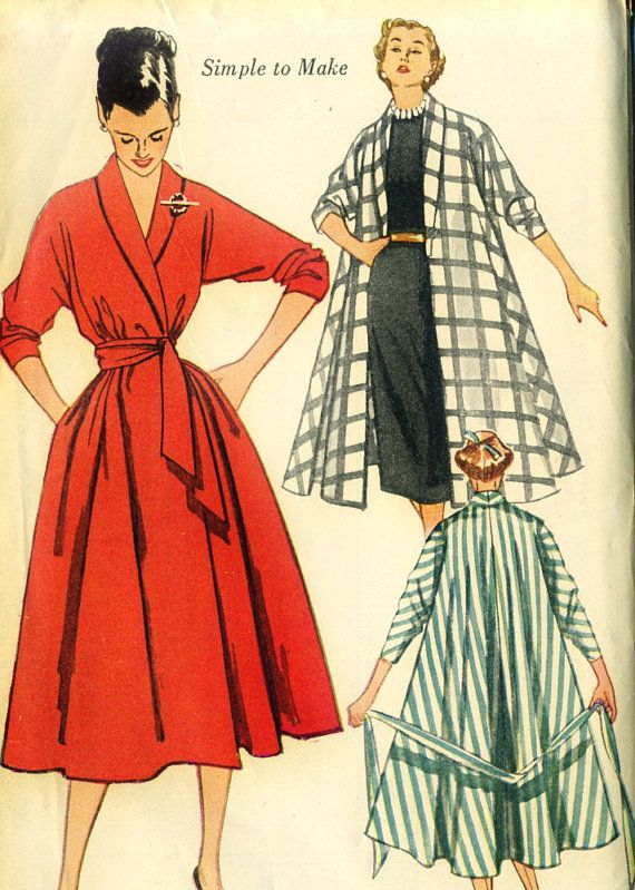 After I got this vintage sewing pattern by Simplicity for a house coat I know a few other people wanted it - well it is here and in a bigger bust size too woo hoo #patternpatter