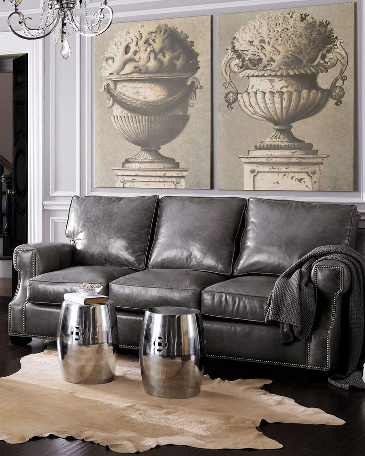 Best 25 Leather Sofas Ideas On Pinterest: Best 25+ Grey Leather Sofa Ideas On Pinterest