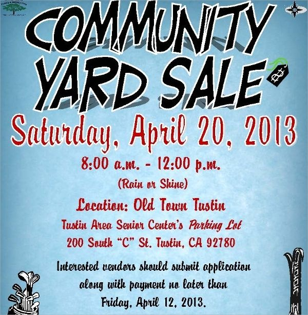Free 27 Yard Sale Flyer Templates In Psd Eps Ai Ms Template Beautiful Sign