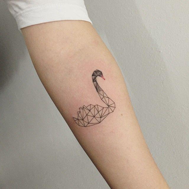 black swan #tattoo #tattoos