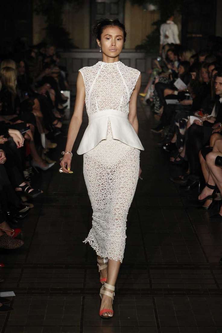 Manning cartell intertwined lace mini dress