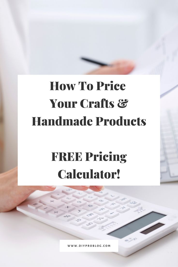 How To Price Your Crafts & Handmade Products FREE Pricing