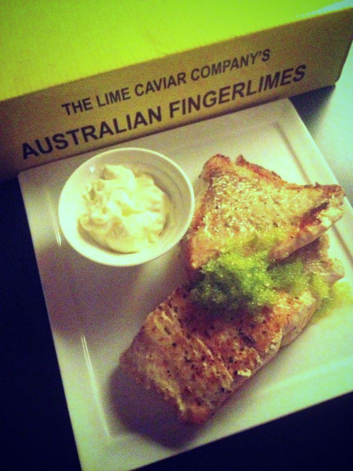 Salmon and Lime Caviar.