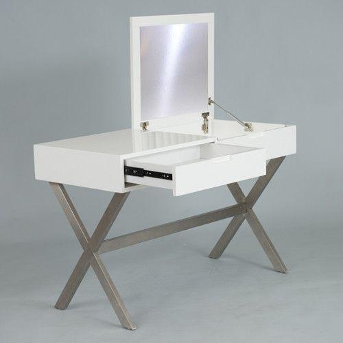 Matrix Porsha Desk And Vanity With Mirror Vanity Ideas