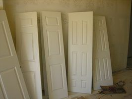 Room dividers are easy to make with doors.