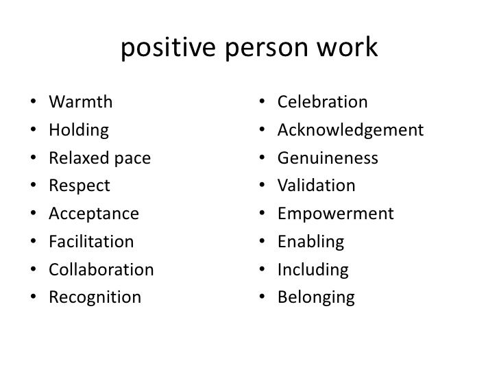 person centredness  relationships