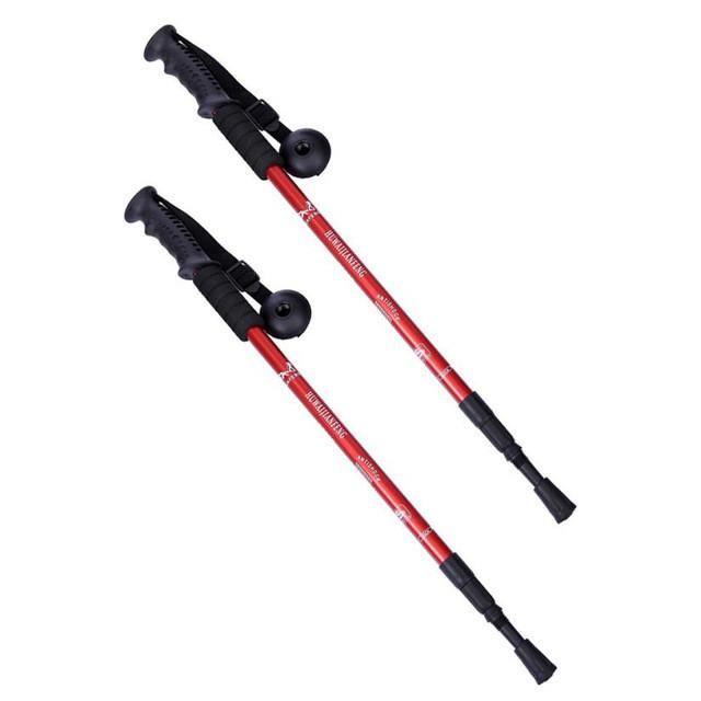 1 Pair Trekking Walking Hiking Sticks Poles Alpenstock Anti Shock