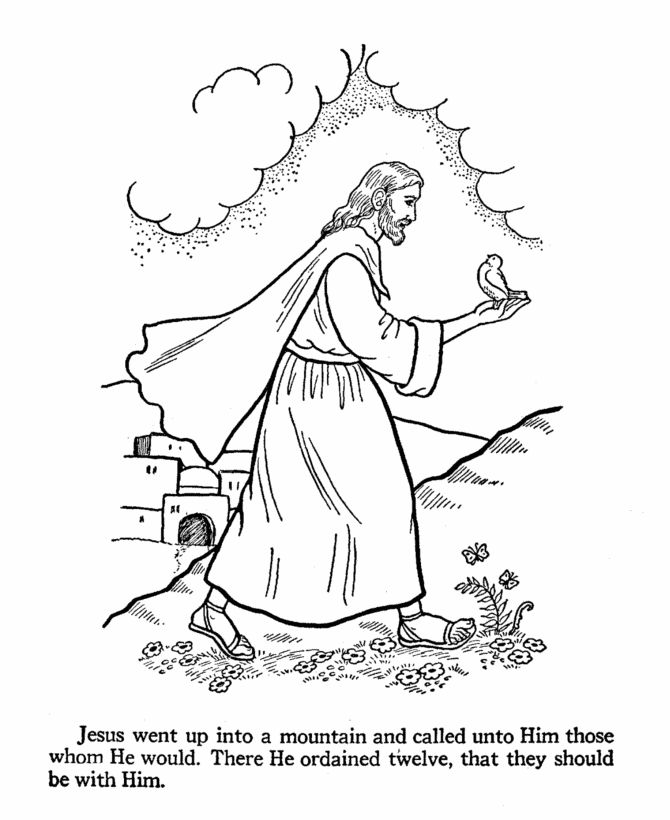 Find This Pin And More On Storia Di Gesu Jesus Teaches Coloring Pages