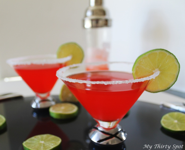 Cherry Limeade Martini (2 ounces cherry vodka (I love Three Olives Cherry)  2 ounces club soda or sprite  1 ounce freshly squeezed lime juice, or juice from concentrate  1/2 ounce grenadine (or cherry juice or Maraschino juice)  Limes  Maraschino cherries)