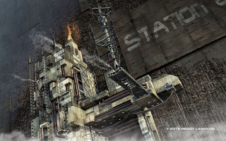 Another factory. Modo 901 / Photoshop