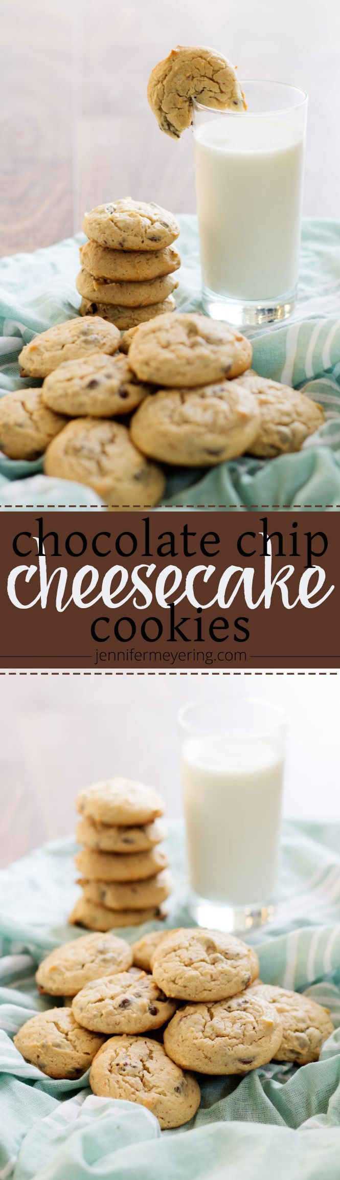 Chocolate Chip Cheesecake Cookies | JenniferMeyering.com