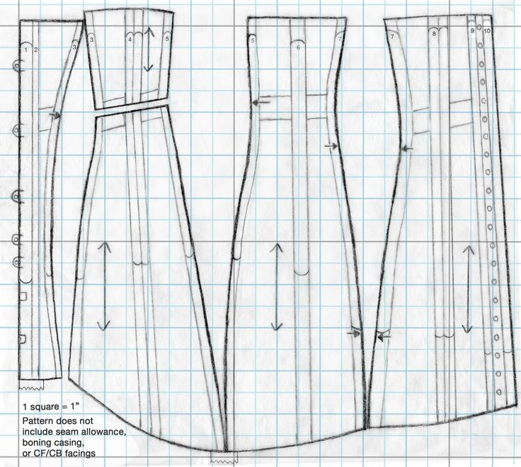 Festive Attyre: 1910's corset pattern and instructions
