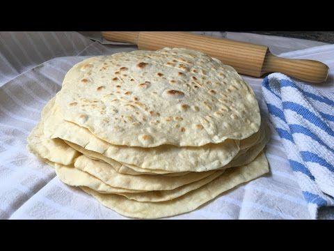 Tortillas de harina de trigo muy fáciles para fajitas, burritos, quesadillas... - YouTube