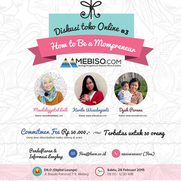"Beon.co.id on Twitter: ""Diskusi Toko Online ""How to be a Mompreneur"" ,Ikutan yuk daftar disni http://t.co/aG5BK7p7f3 http://t.co/SUUJrRjDj1"""