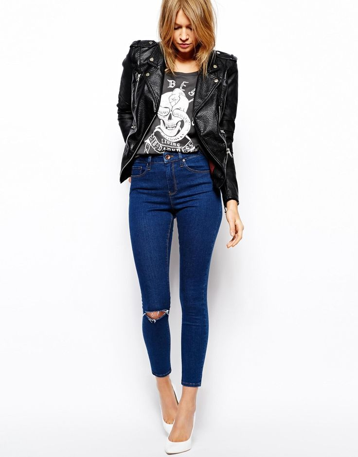 2015 calca knee ripped women high waist skinny jeans for woman female feminino feminina-in Jeans from Women's Clothing & Accessories on Aliexpress.com | Alibaba Group